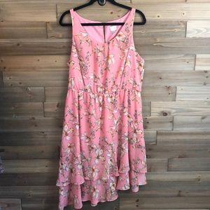 ❤️A New Day Sleeveless Pink Floral Dress Size XL❤️